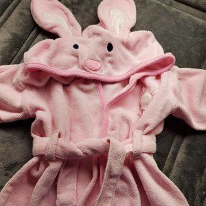 Bathing Bunny Pink Bath Robe Towel Girls Swim